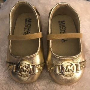 Michael Kors Gold Baby Shoes